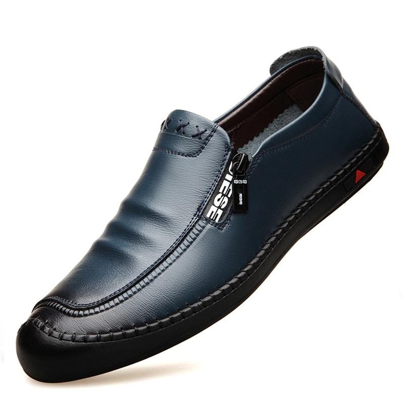 Mens Leather Slip-On Loafers | Capthatt