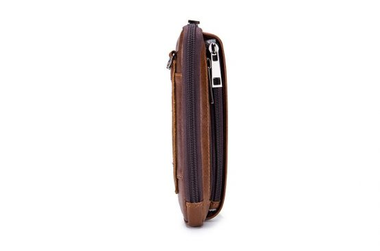 Vertical Genuine Leather