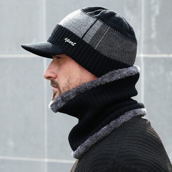 AETRUE Mens Knitted Beanie, Men's Scarf And Hat