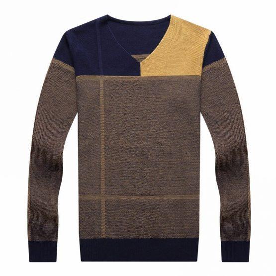 COODRONY Mens V Neck Pullover