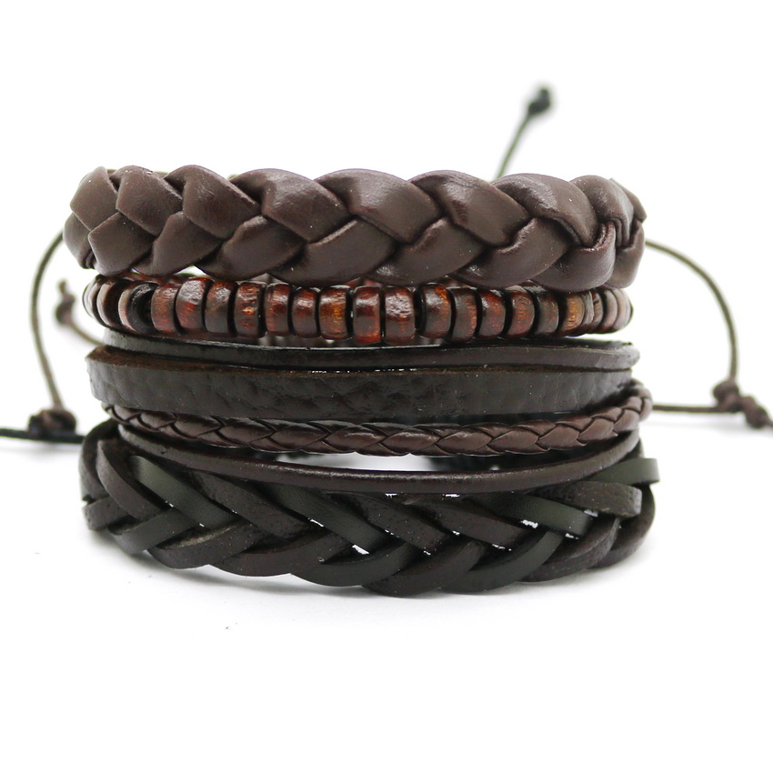 magnetic leather casual wrap bracelet product clasp bangle with feather pearl jenia cuff women