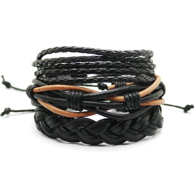 a9e22bff48c4 mens personalised clasp double leather bracelet · men s leather bracelet .