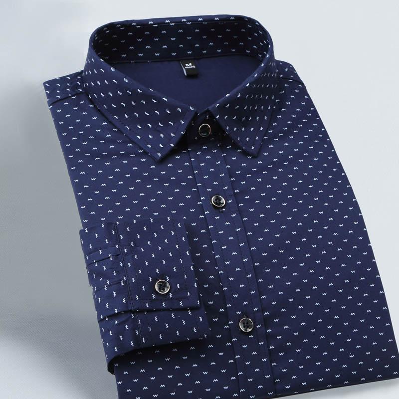 men s slim fit long sleeve polka shirt
