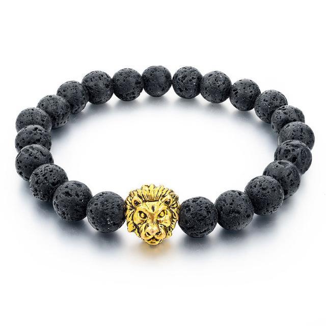 Natural Stone Lion Bracelet