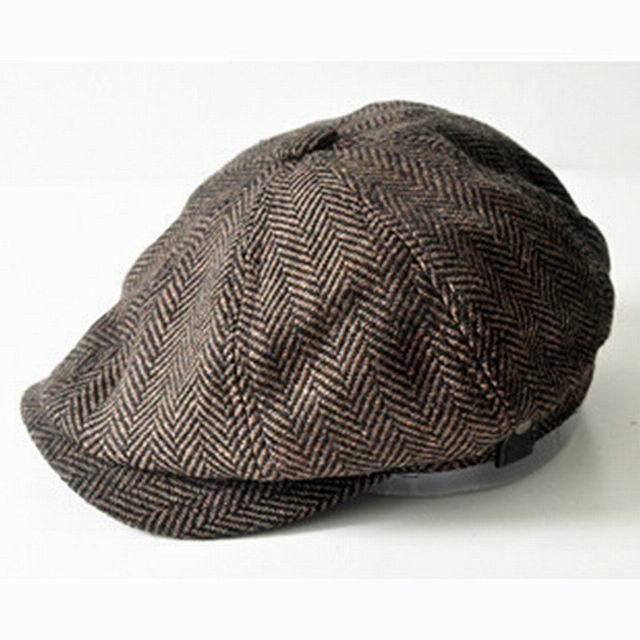 Fashion Gentleman Octagonal Cap Newsboy Beret Hat Autumn And Winter For  Men s Jason Statham Male Models Flat Caps fcb629ef587