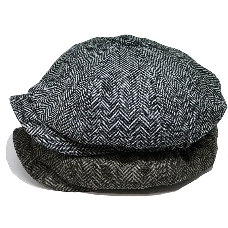 Fashion Gentleman Octagonal Cap Newsboy Beret Hat Autumn