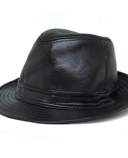Handmade Leather Fedora Hat