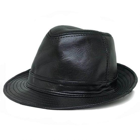 Handmade Leather Fedora Hat
