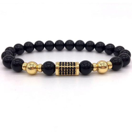 Mens luxury design beaded bracelet,