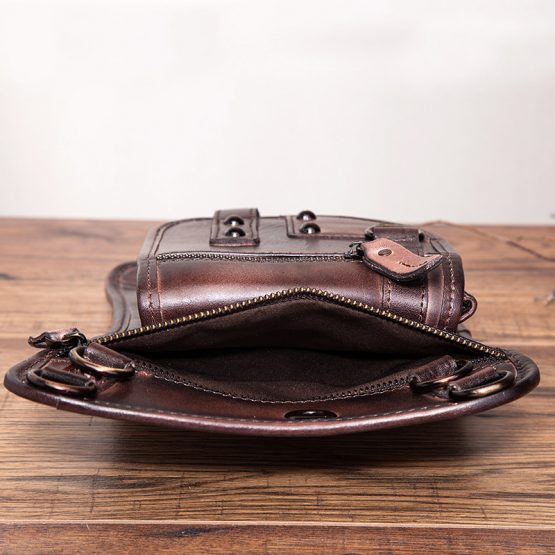Mens Leather Belt Bag