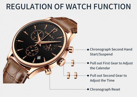 Mens Luxury Sports Watch, Quartz Automatic Waterproof Wrist Watch