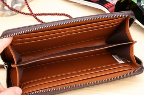 Seven Mens Leather Clutch Wallet