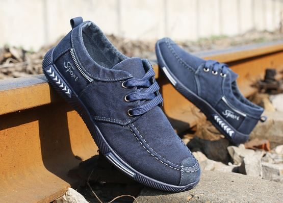 mens denim lace up shoes