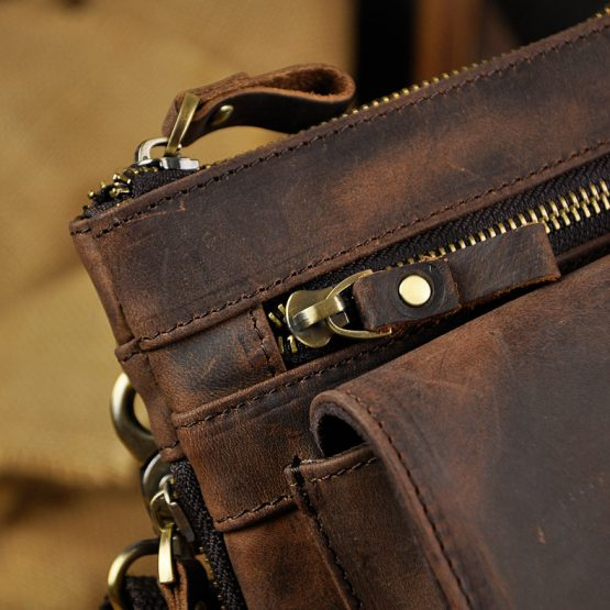 Genuine Leather Mens Sling Bag Small
