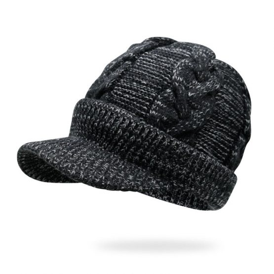 Knitted Baseball Cap | Beanie Hat | Wool Cap with Visor