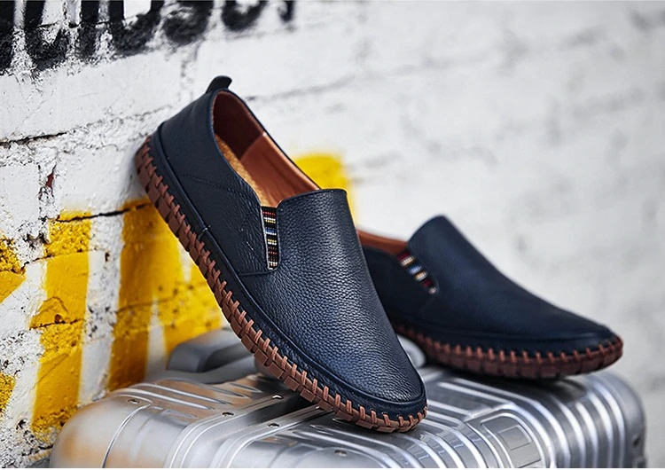 Mens Italian Leather Loafers | Flat Breathable Shoes | Capthatt Mens  Clothing & Accessories