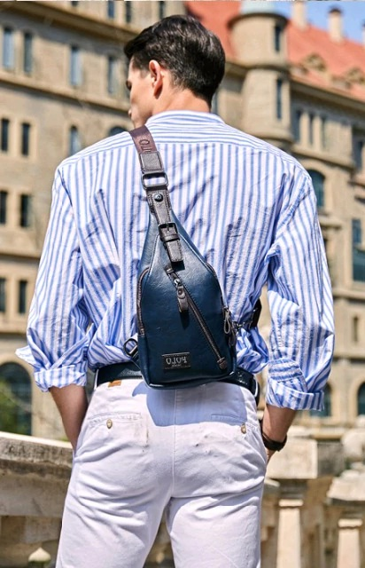 Blue Bag – Theftproof Mens Chest Bags