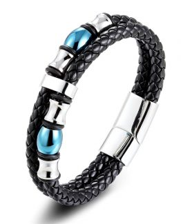 Double Layer Leather Bracelet For Men