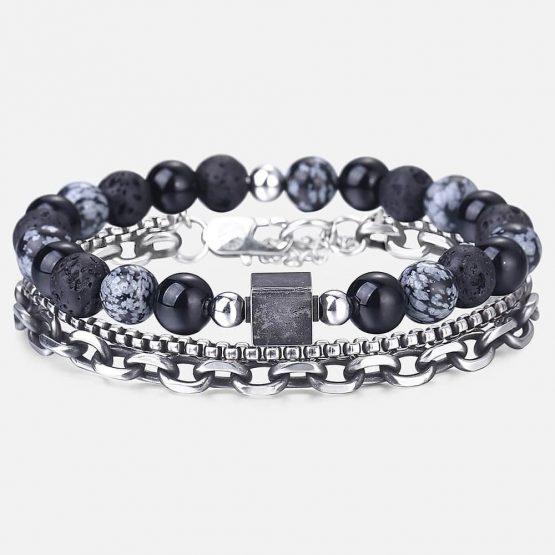 Mens Multi Layer Chain Bracelet