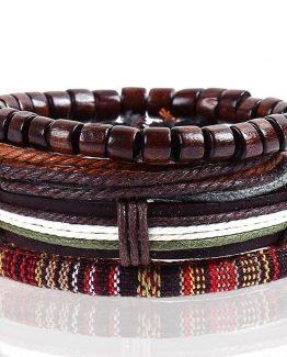 Linen Handmade Rope Wrap Multilayer Bracelet