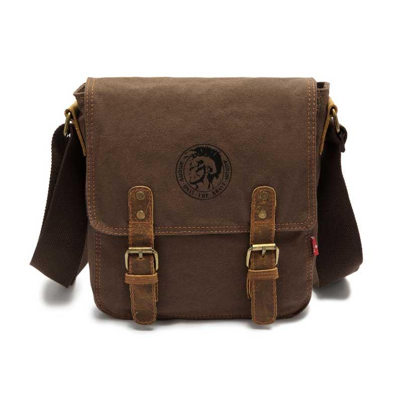 bf04b6f7e Men's Retro Canvas Shoulder Bag; Messenger Bag, Cross-body Bag ...