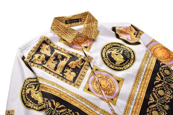 Baroque Shirt Style, Long Sleeve Luxury Design