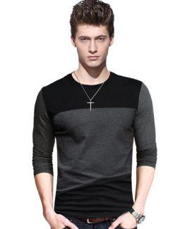 Big-size-cotton-t-shirt-Spring-autumn-fashion-mens-T-shirt-homme-men-s-long-sleeved