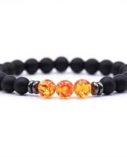 Harmony Black Tourmaline And Fire Stone Bracelets