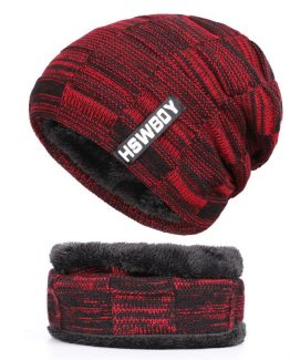 Thick Beanie Hat, Scarf Set