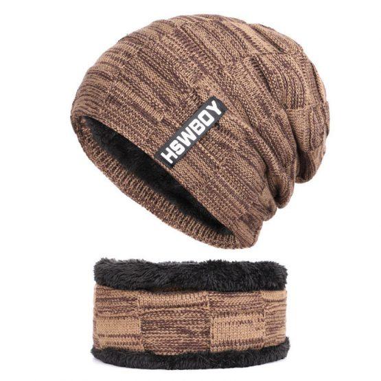 Thick Beanie Hat, Scarf Set