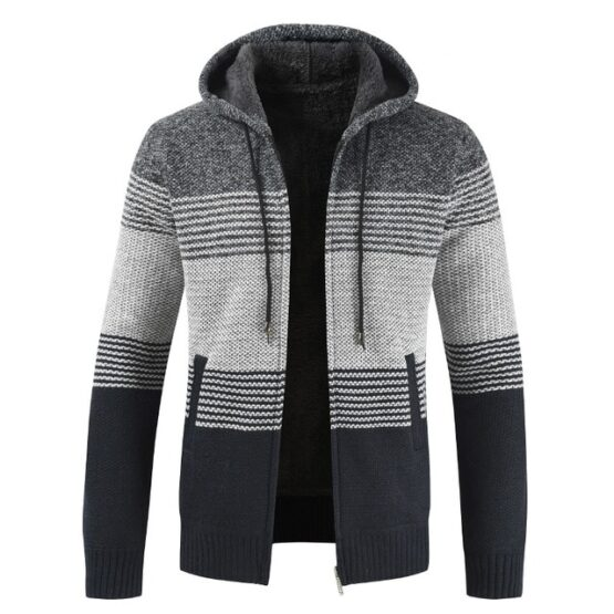 Remano Men's Hooded Sweater Jacket - Fleece Lined Hoodie