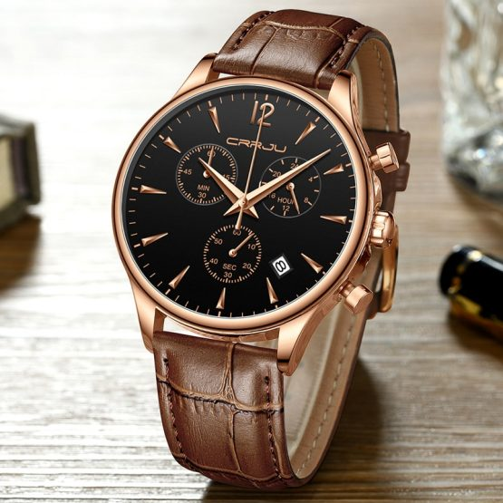 Mens Luxury Sports Watch, Quartz Automatic Waterproof Wrist Watch