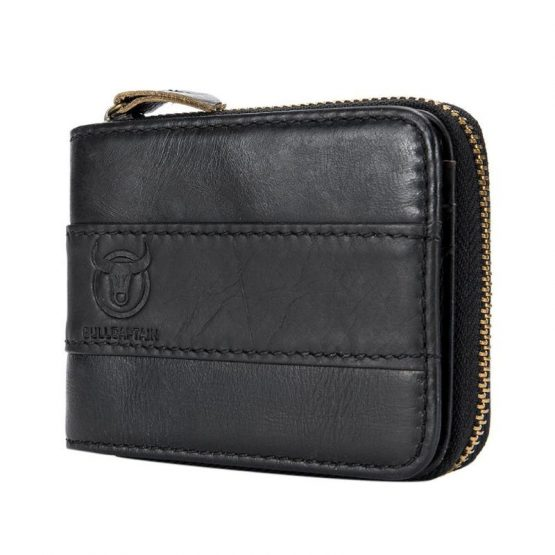 BULLCAPTAIN Genuine Leather Wallet for Men - Large Capacity
