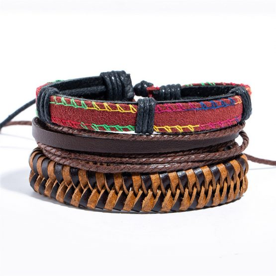 Mix Leather Bracelets Sets