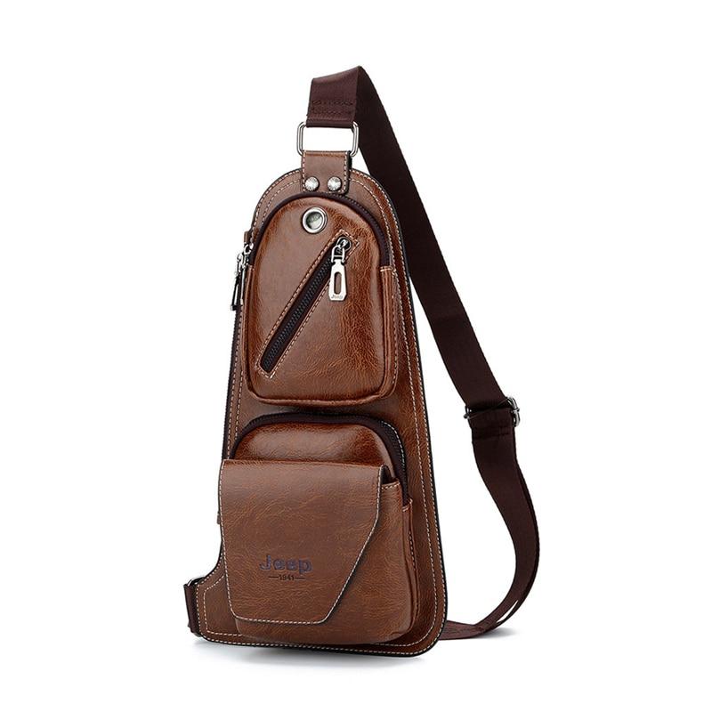 45869e28f6a Jeep Vintage Men's Chest Bag For Men, Usb Charging Port   Capthatt ...
