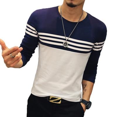 Mens O-Neck Striped T-Shirt