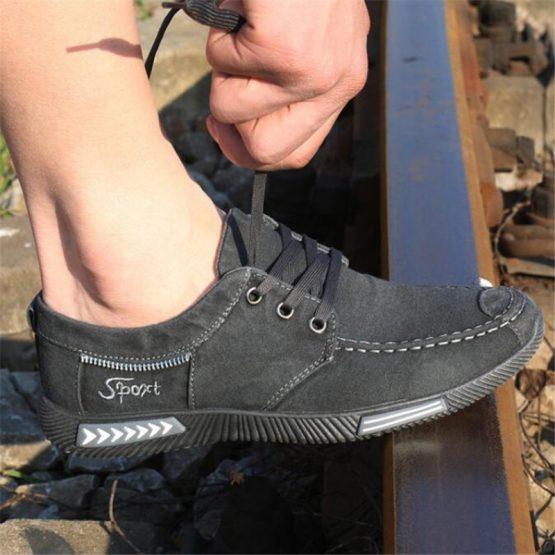 mens denim lace up shoes