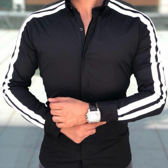 Men's Slim Fit Long Sleeved Dress Shirt