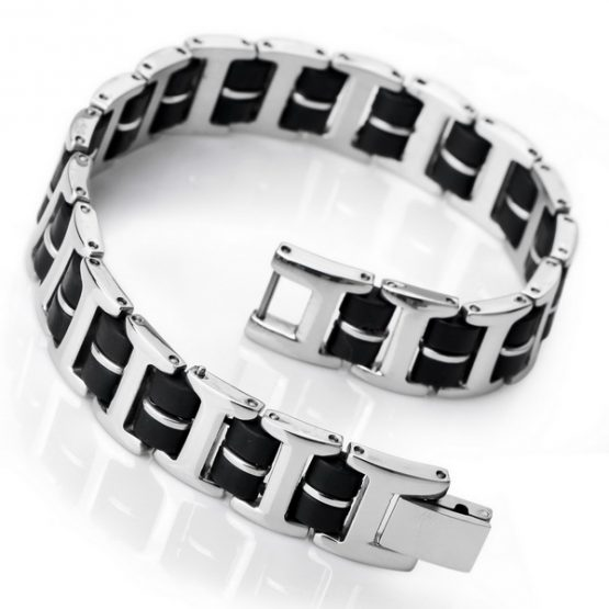 stainless steel blue bracelet