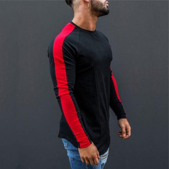 Mens Long Sleeve O-Neck T Shirt