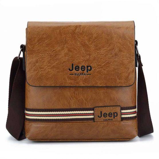 Jeep Mens Pu Leather Crossbody Sling Bag