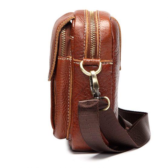 Mens Genuine Leather Vintage Crossbody Bag