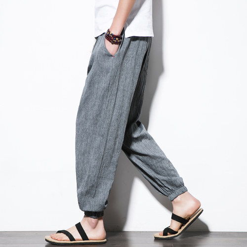 Mens Cotton Harem Pants - Drawstring