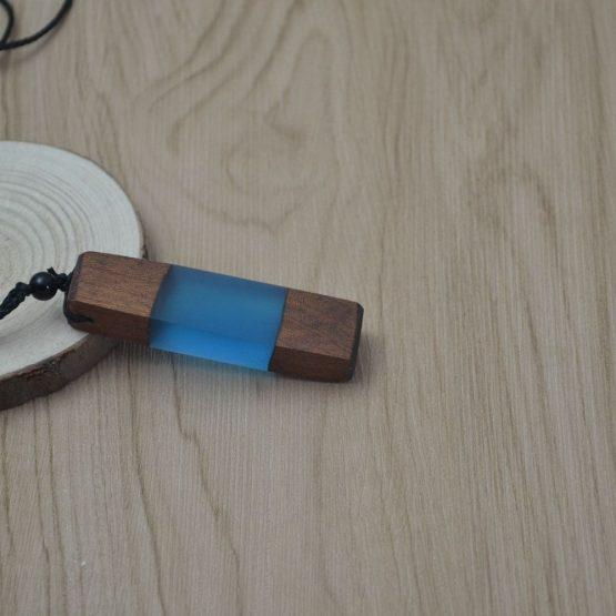 Handmade Wood Resin Necklace