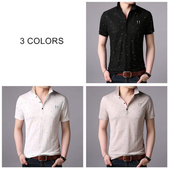NEW COODRONY T Shirt Men - Dot Print Short Sleeve T-Shirt
