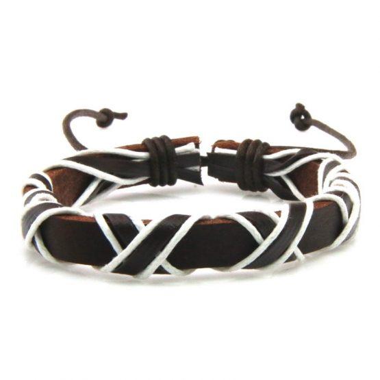 wide leather bracelet for men