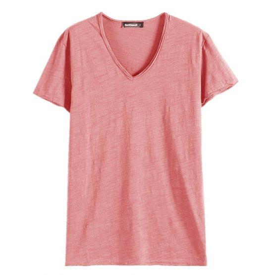 V Neck Cotton T Shirt