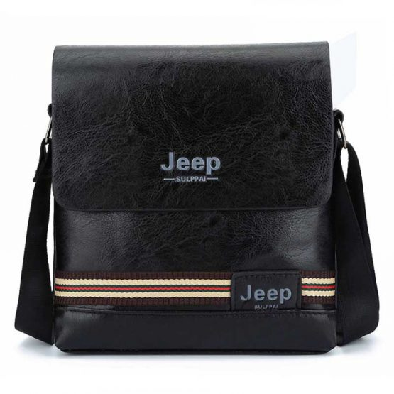 Jeep Mens Pu Leather Crossbody Sling Bag