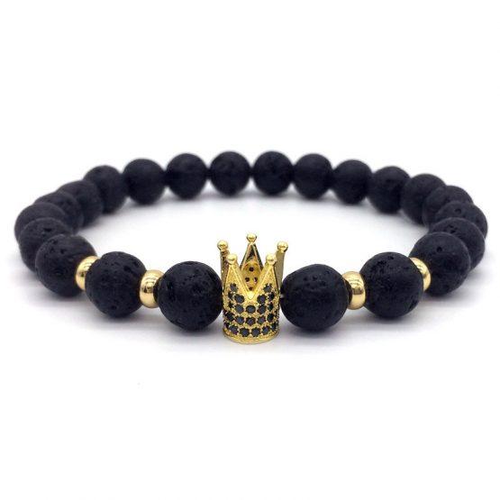Lava Stone Bracelet For Men