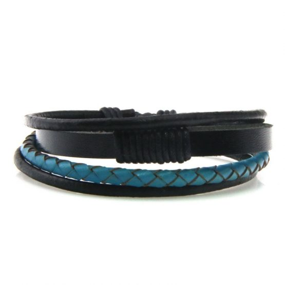 wide leather bracelet for men
